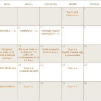 Szeptemberi programok