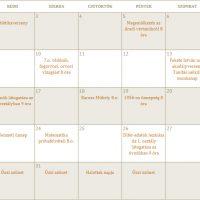 Októberi programok
